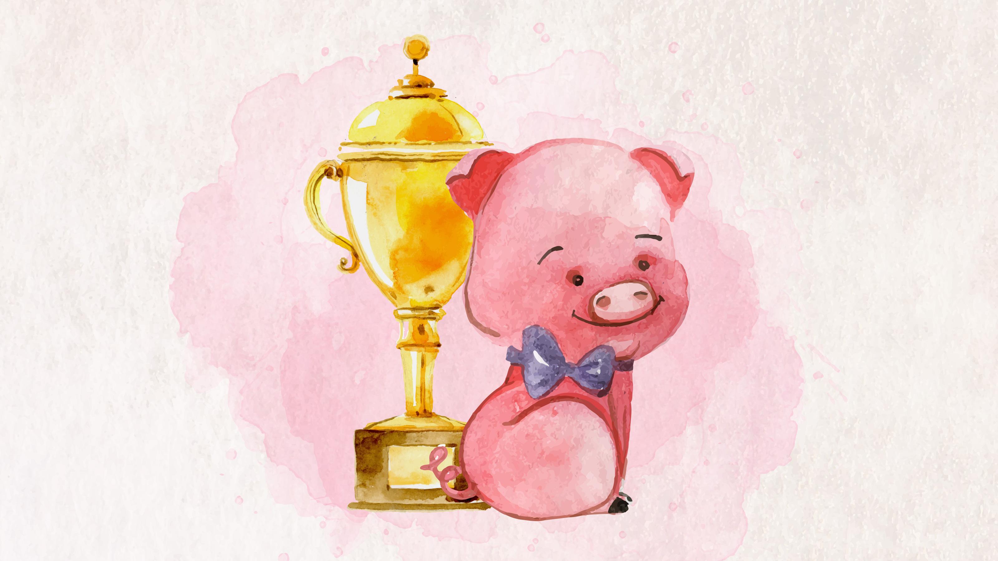 雲講堂-【英語繪本說故事】得獎的小豬
